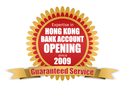Expertise in Hong Kong Bank Account Opening since 2009. Guaranteed Service.