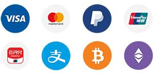 AsiaBC: We accept payment by visa, mastercard, alipay, paypal, bitcoin, Ethereum